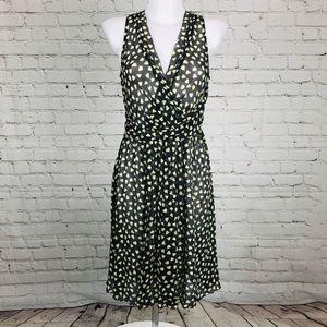 Gray w/ cream & yellow ❤️ dKNY Sheer Shell Dress 6